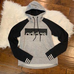Adidas Logo Printed Hoodie Grey Size XS 4-6